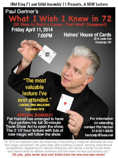 Gertner Lecture April 11 7 PM